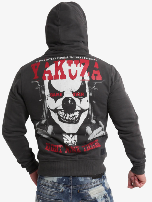 Yakuza Sweat capuche zippé Duel The Clown Ninja noir