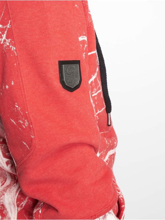 Yakuza Sweat capuche zippé Marble rouge