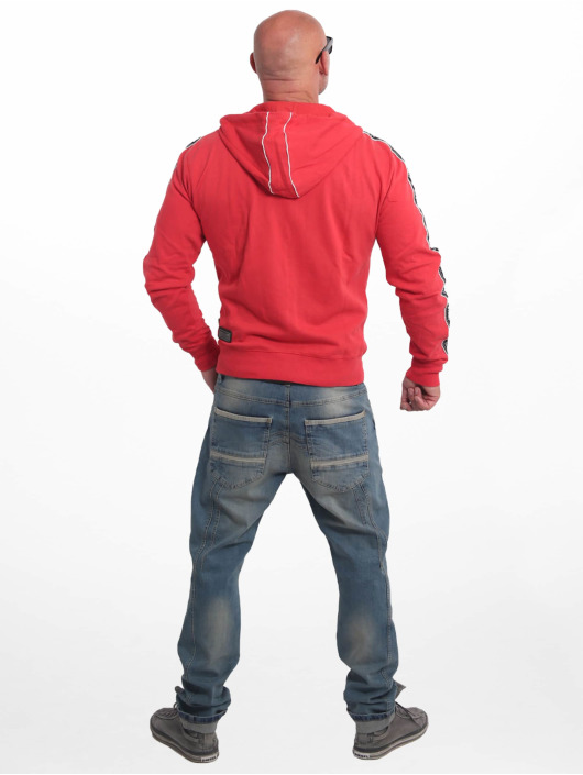 Yakuza Sweat capuche zippé Bad Side rouge