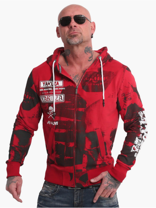Yakuza Sweat capuche zippé Psycho Clown rouge
