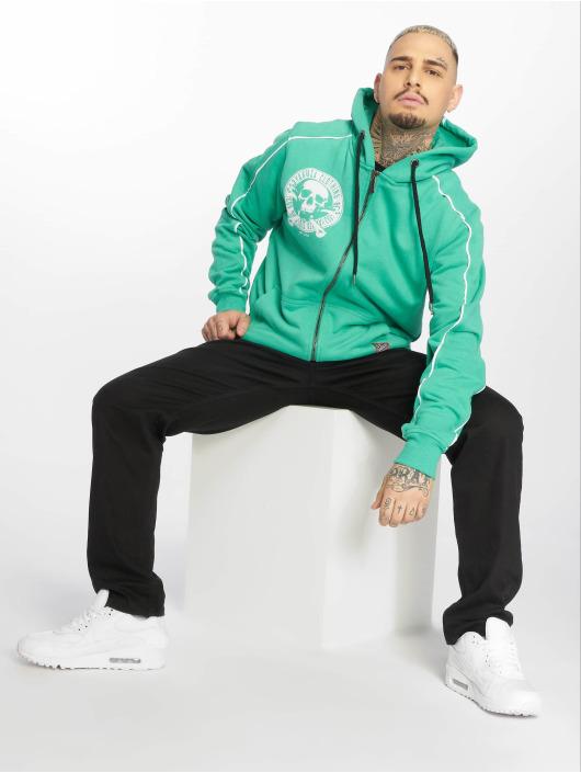 Yakuza Sweat capuche zippé Jolly Zip turquoise