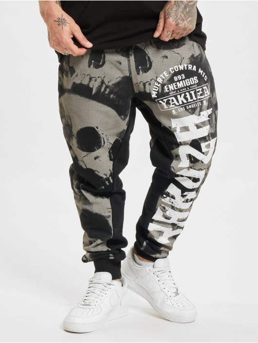Yakuza Sweat Pant Skull V02 black