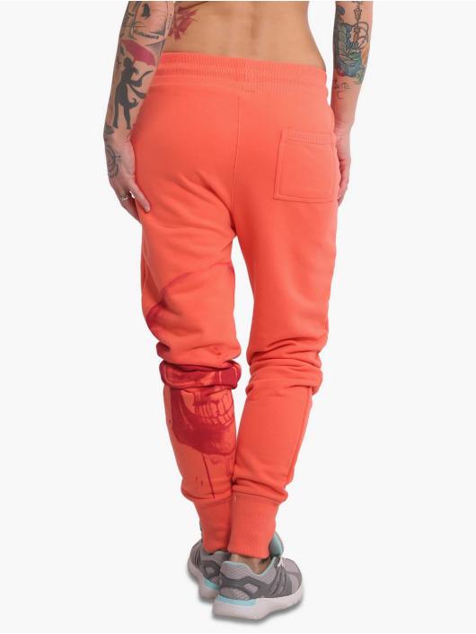 Yakuza Sweat Pant Dropping Skull Pouch orange