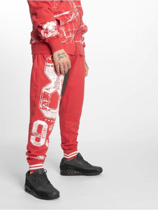 Yakuza Sweat Pant Badge Sweat red