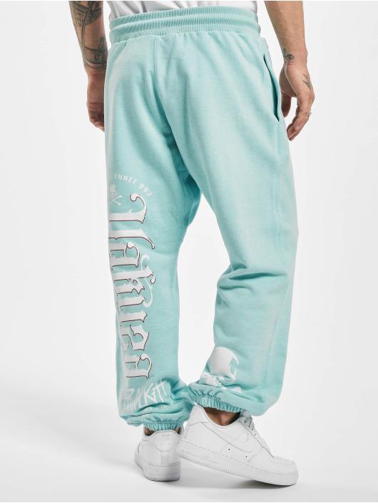 Yakuza Sweat Pant Through Loose turquoise