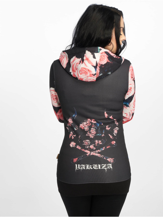 Yakuza Sweatvest Roses zwart
