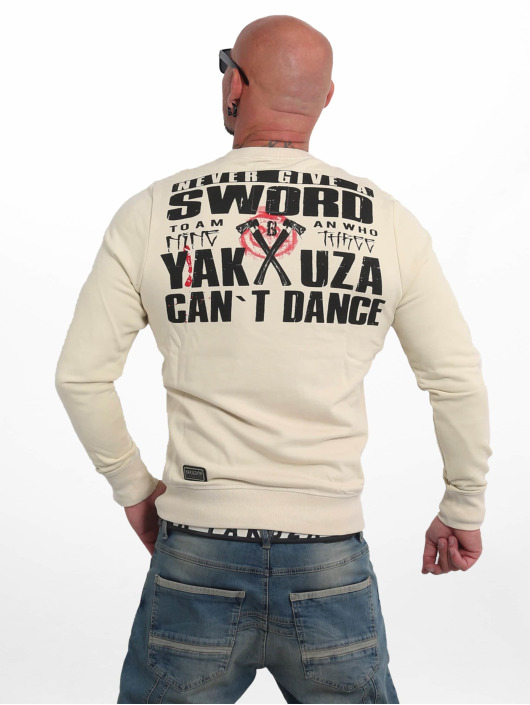 Yakuza Swetry Sword bezowy