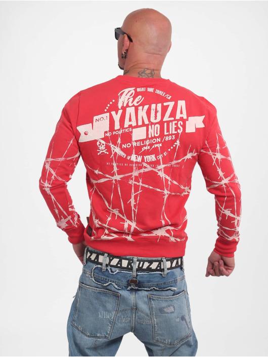 Yakuza Swetry Barbwire czerwony