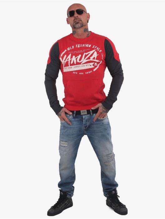 Yakuza Swetry Old Fashion Two Face Pouch czerwony
