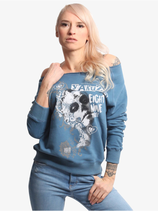 Yakuza Swetry Muerte Romantica Wide niebieski