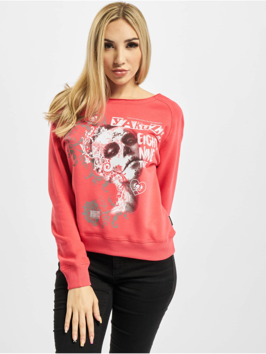 Yakuza Swetry Romantica Wide Crew pink