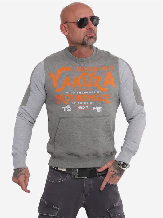 Yakuza Swetry Brotherhood Jumper szary