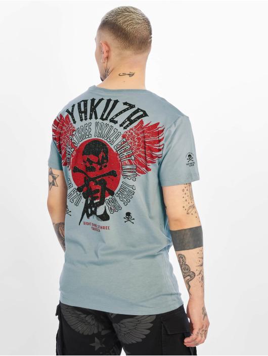 Yakuza T-paidat Nippon Skull harmaa