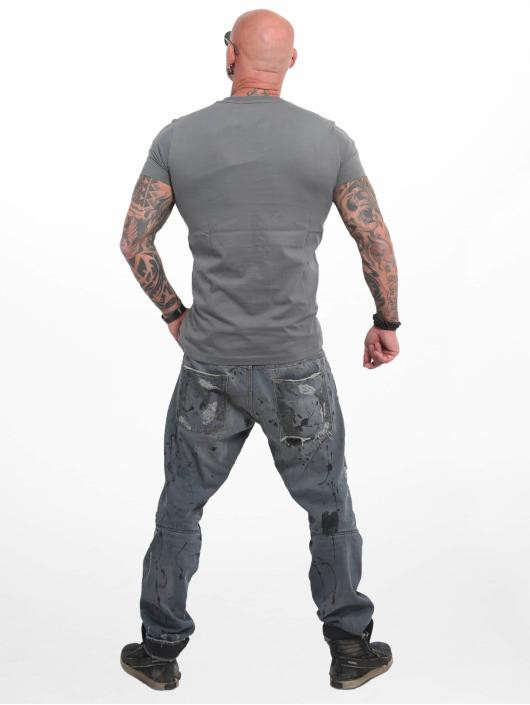 Yakuza T-paidat Basic Line 4W harmaa