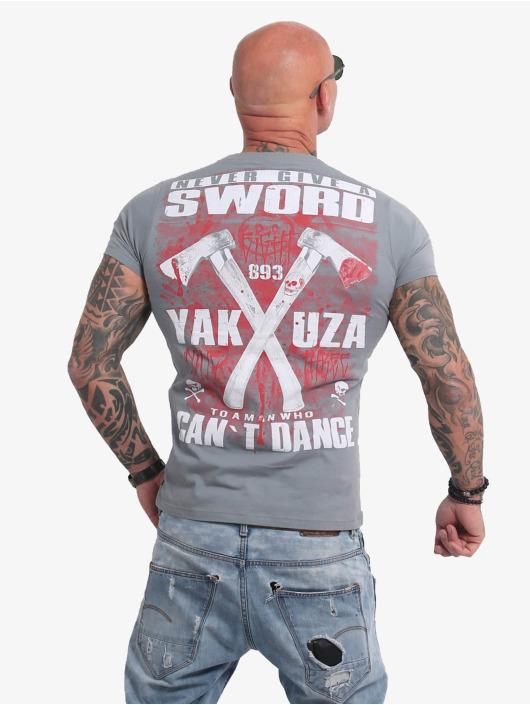 Yakuza T-paidat Sword harmaa