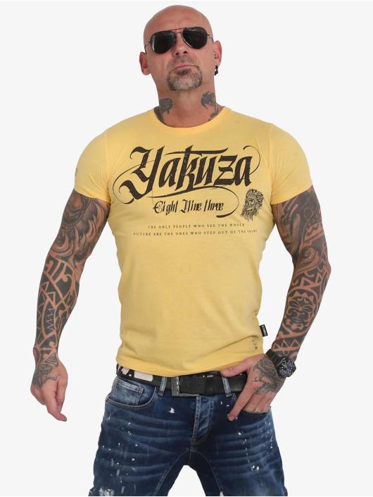 Yakuza T-paidat Indian Skull keltainen