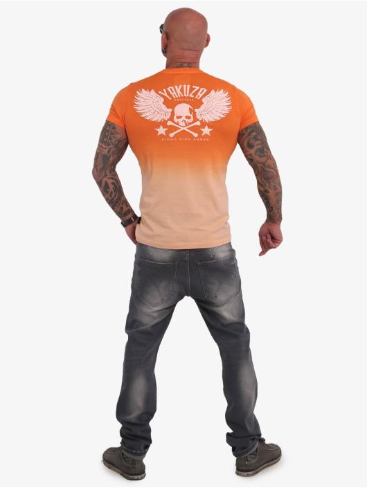 Yakuza T-paidat Batik Vintage oranssi