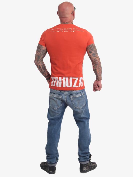 Yakuza T-paidat Crucified punainen