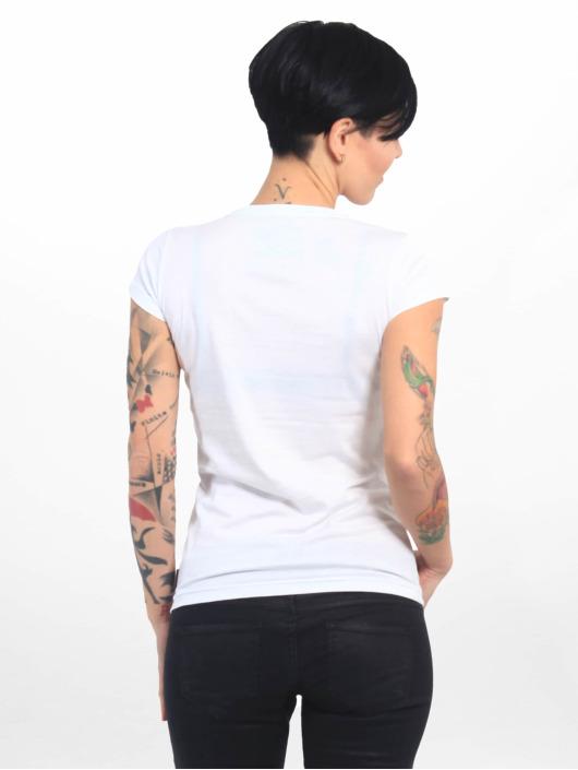 Yakuza T-paidat Basic Line Script V Neck valkoinen