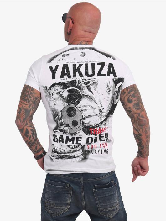 Yakuza T-paidat Hating Clown valkoinen