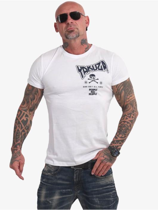 Yakuza T-paidat Guns Vs People valkoinen