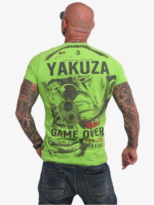 Yakuza T-paidat Hating Clown vihreä
