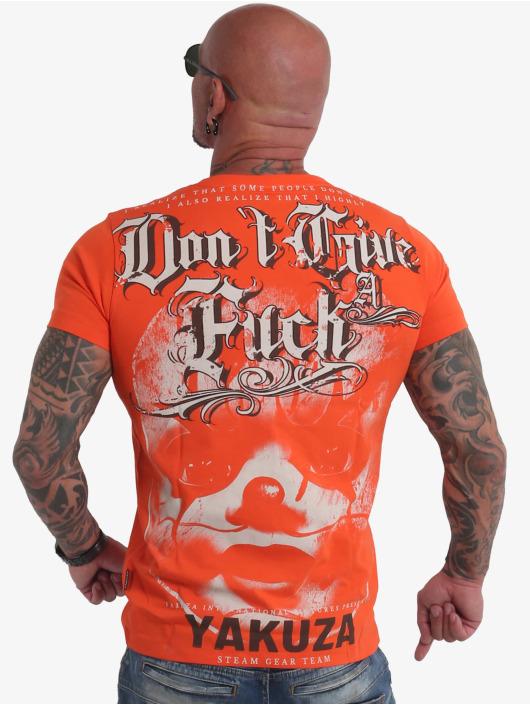 Yakuza T-shirt Give A Fck arancio