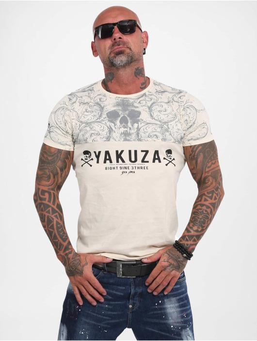 Yakuza T-Shirt Ornamentic Skull beige