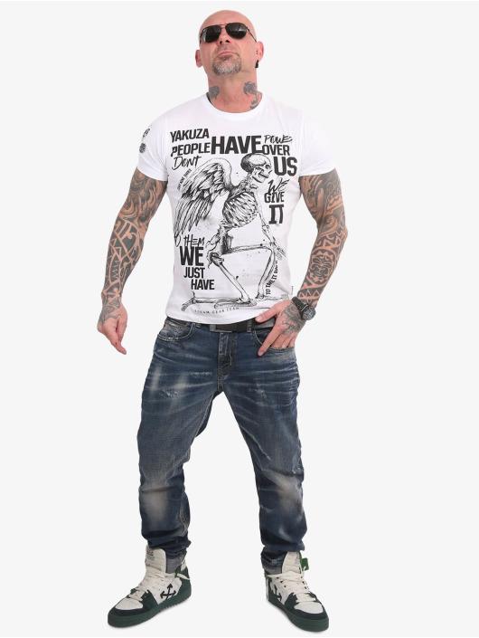 Yakuza T-shirt Power Over Us bianco