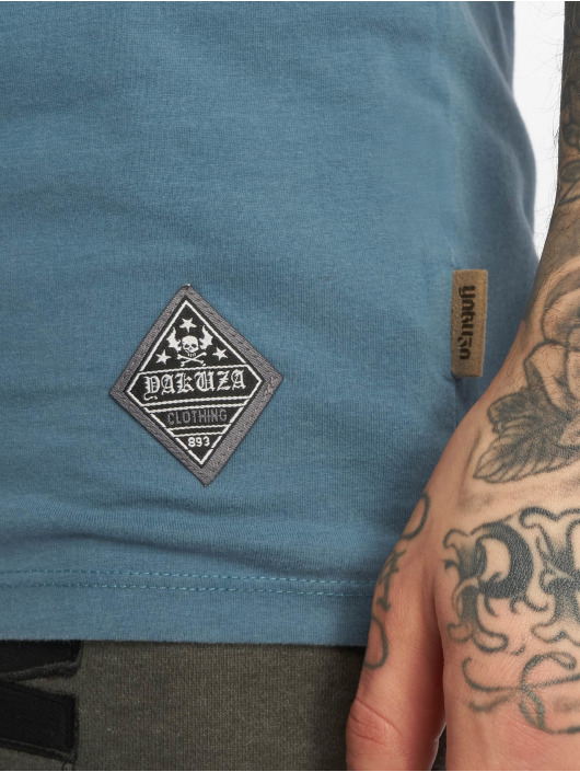 Yakuza T-shirt Aggressive Two Face blå