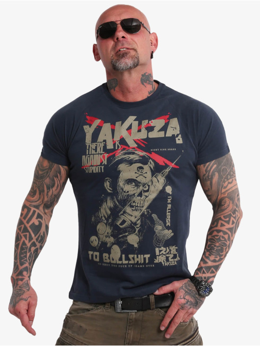 Yakuza T-shirt Stupidity blå