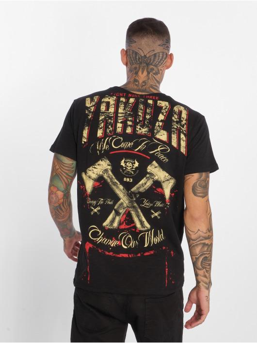 Yakuza T-Shirt We Come In Peace black