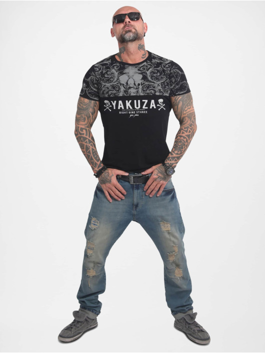 Yakuza T-Shirt Ornamentic Skull black
