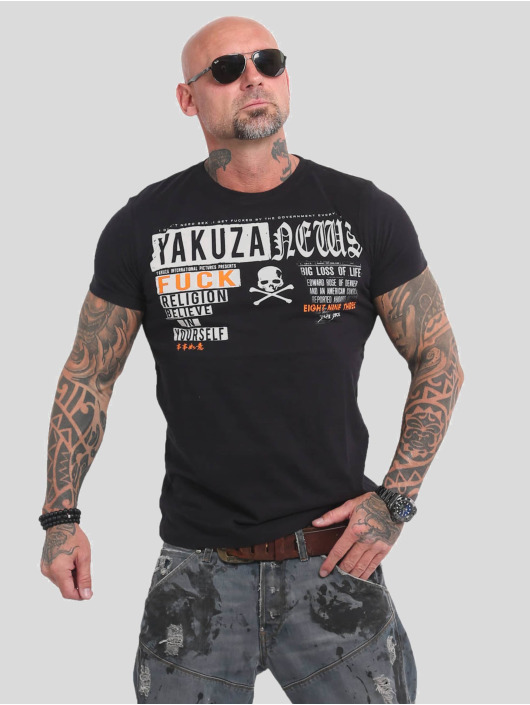 Yakuza T-Shirt News black