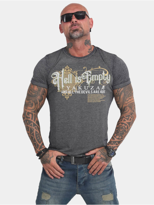 Yakuza T-Shirt Hell Is Empty Burnout black