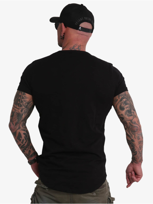 Yakuza T-Shirt Creative Studio Long Tail V-Neck black