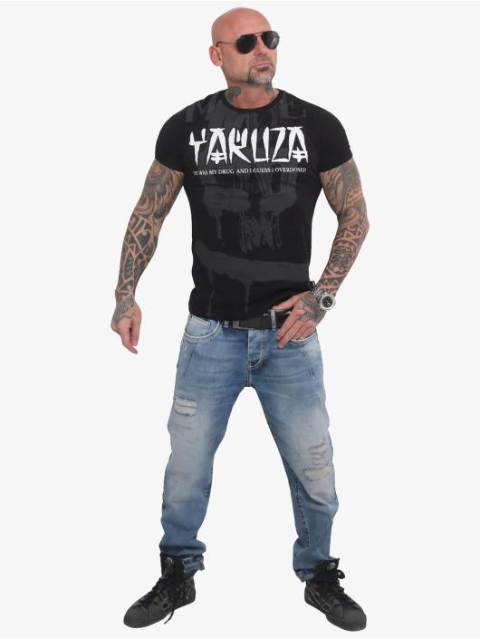 Yakuza T-Shirt Burning Skull black