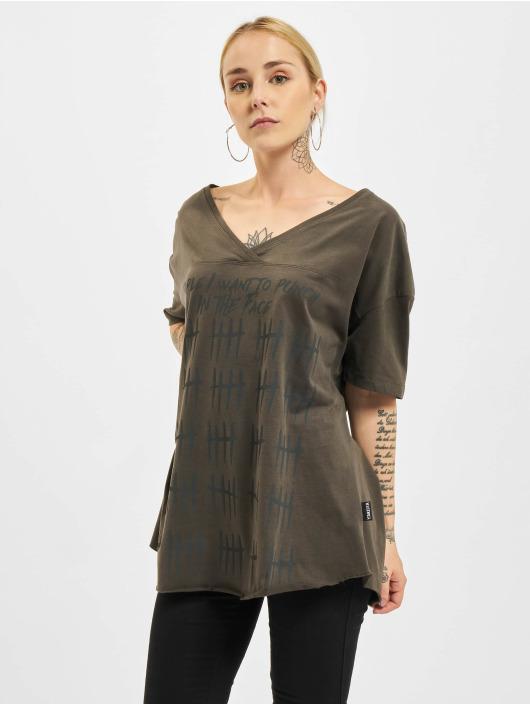 Yakuza T-Shirt Punch Loose V-Neck black