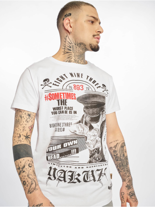 Yakuza T-Shirt Own Head blanc
