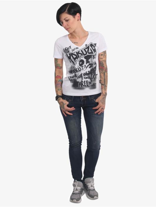 Yakuza T-Shirt Asesinatol V-Neck blanc