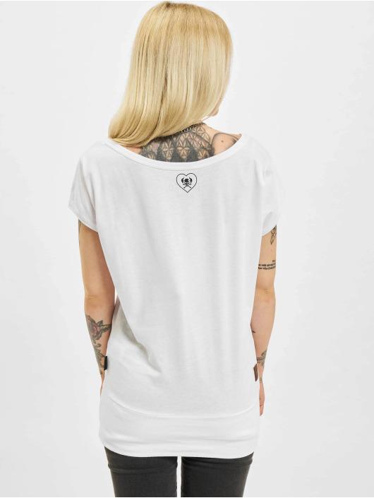 Yakuza T-Shirt Respirator V02 Wide Crew blanc