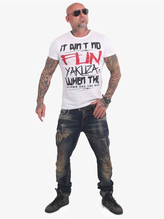 Yakuza T-Shirt No Fun blanc