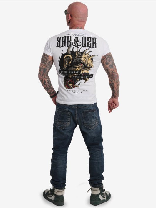 Yakuza T-Shirt Far From The Enemy blanc