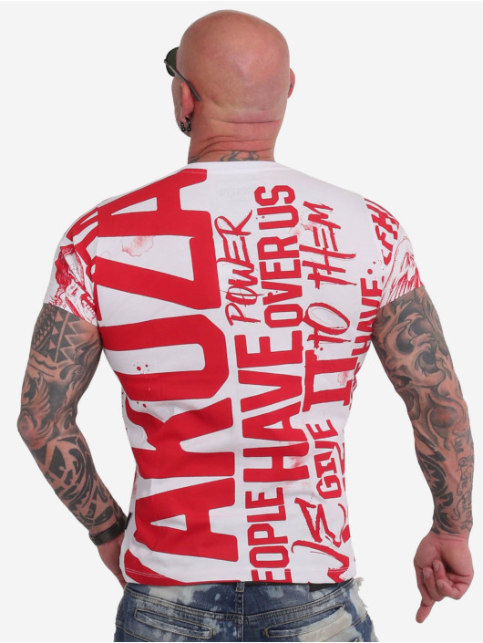 Yakuza T-Shirt Power Over Us Allover blanc