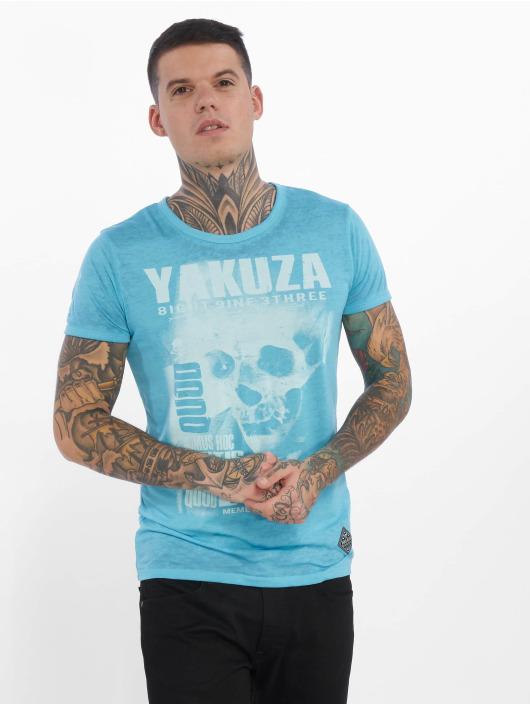 Yakuza T-Shirt Burnout Quod Sumus Hoc Eritis blau