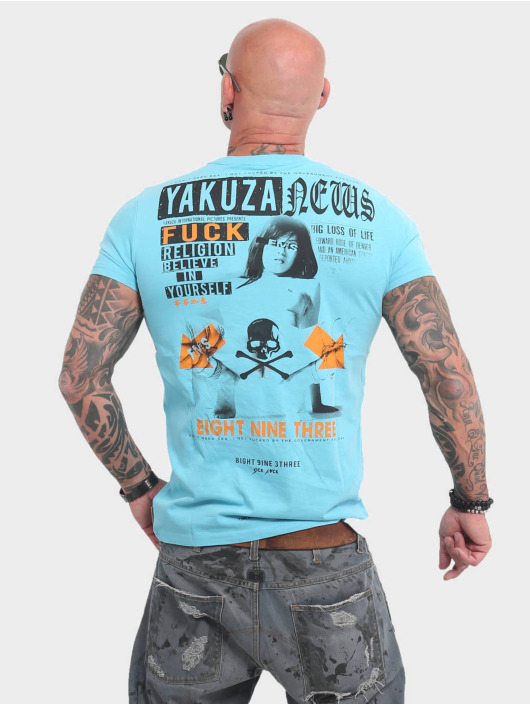 Yakuza T-Shirt News blau