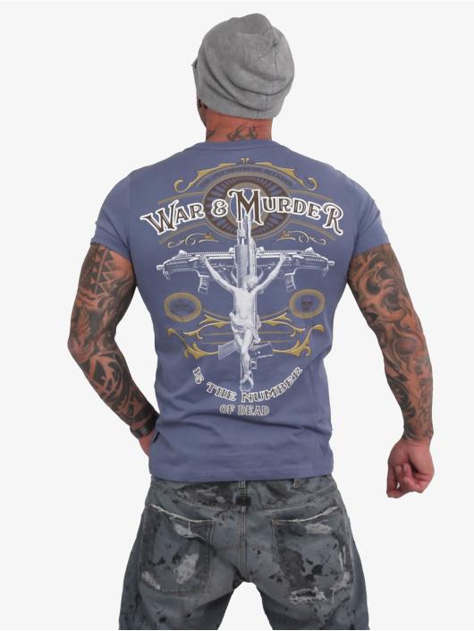 Yakuza T-Shirt War Is Murder blau
