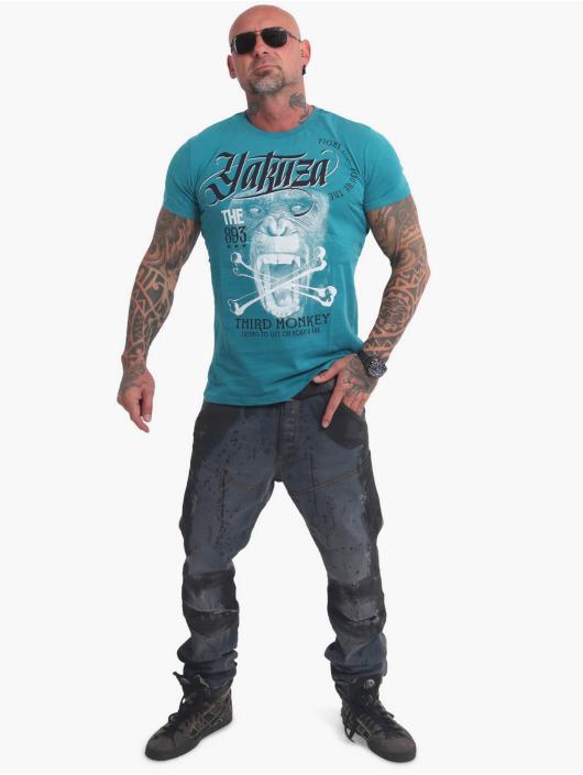 Yakuza T-Shirt Third Monkey blau
