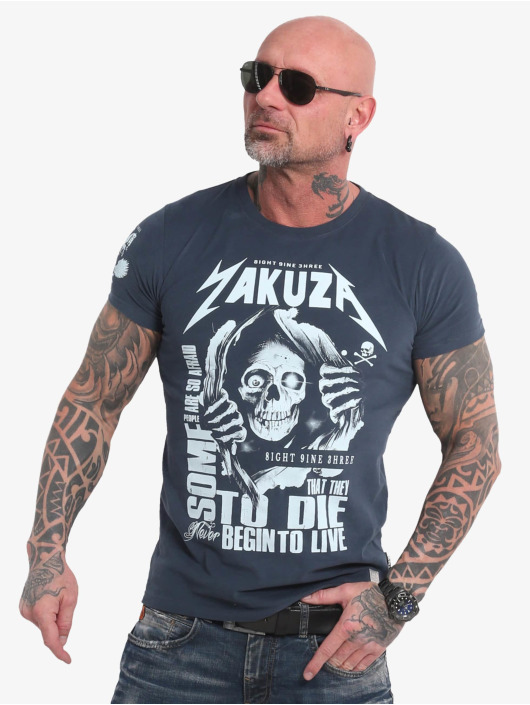 Yakuza T-Shirt Afraid To Die blau