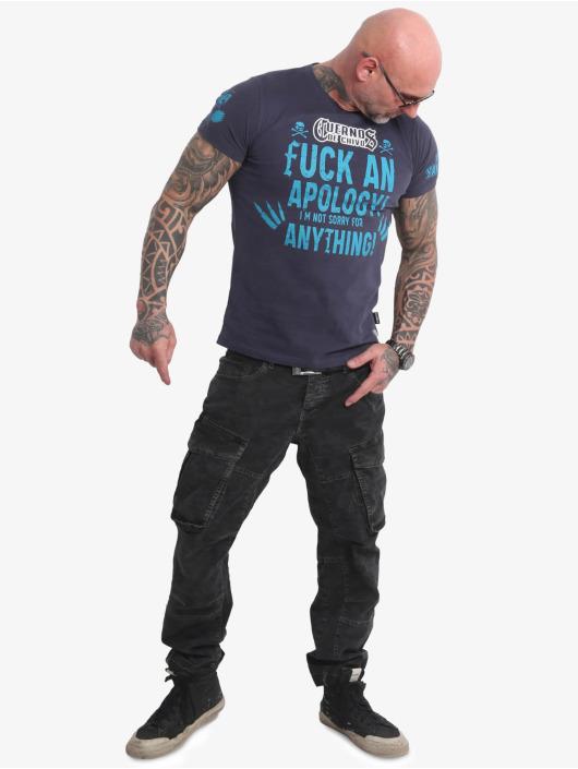 Yakuza T-Shirt Cuernos De Chivo V02 blau